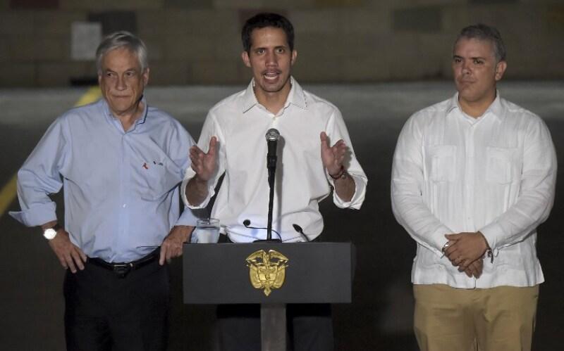 Juan Guaidó en Cúcuta, Colombia