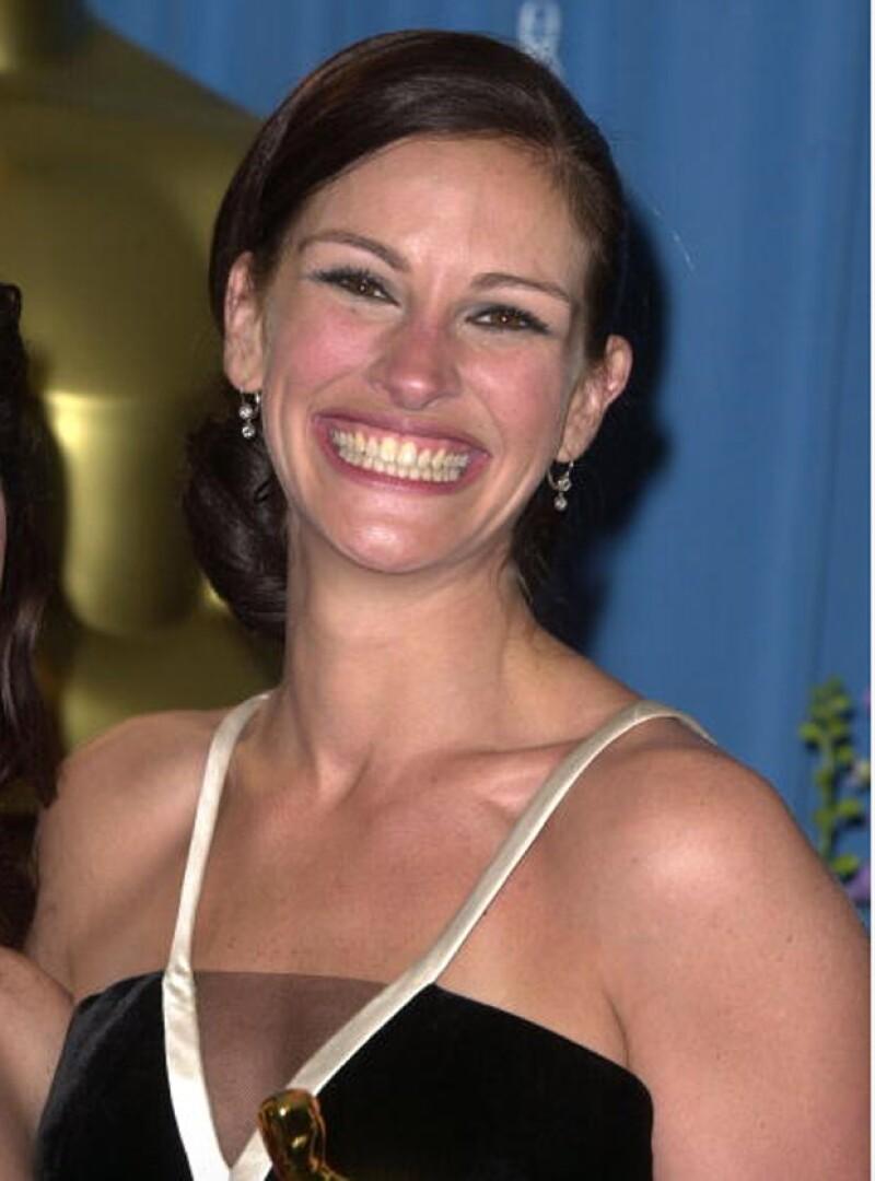 Julia Roberts sufrió u ataque de risa a la hora de ganar su Oscar