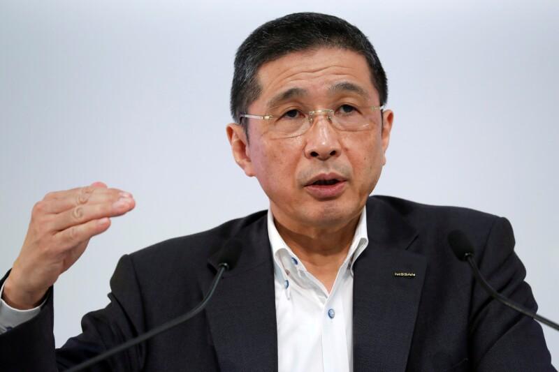 FILE PHOTO: Nissan CEO Hiroto Saikawa attends a news conference in Yokohama