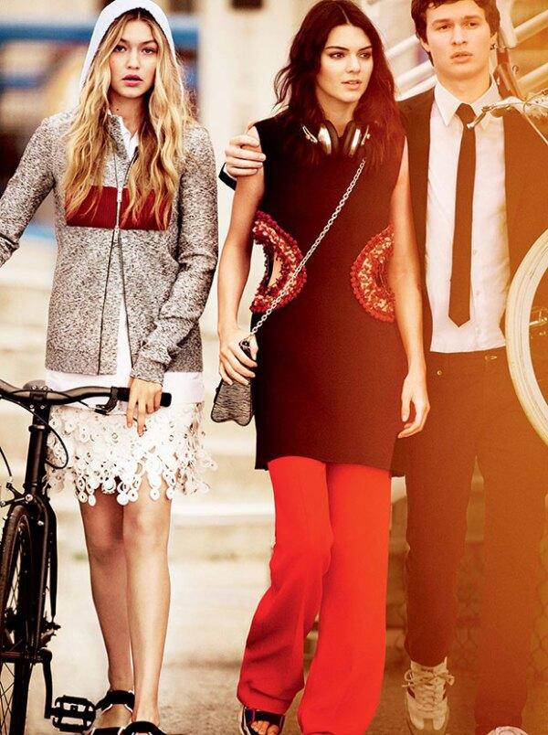 Gigi, Kendall y Ansel pasean por las calles de California.
