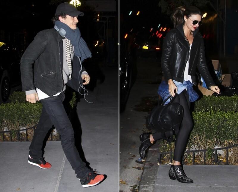 El actor y la modelo fueron vistos la noche de ayer entrando al departamento de Miranda en Nueva York. Él usaba la misma ropa que el día de hoy.