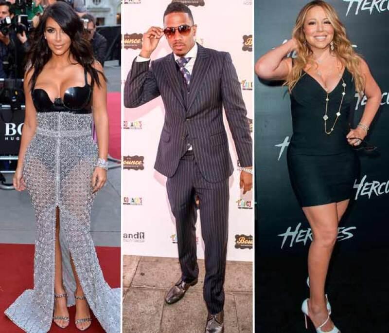 Kim Kardashian y Mariah Carey comparten como ex a Nick Cannon.