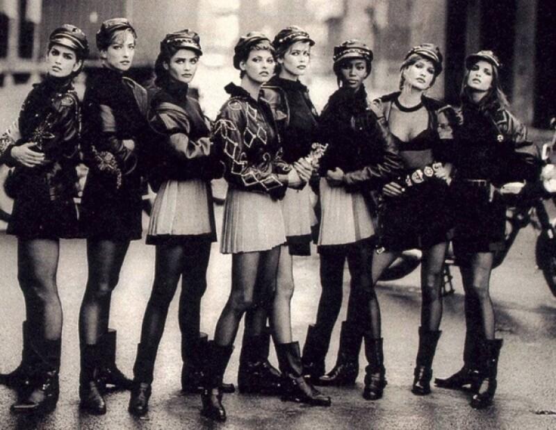 Cindy Crawford, Christy Turlington, Naomi Campbell, Claudia Schiffer, Kate Moss, Mila Jovovich y Linda Evangelista reinaron en los 90.