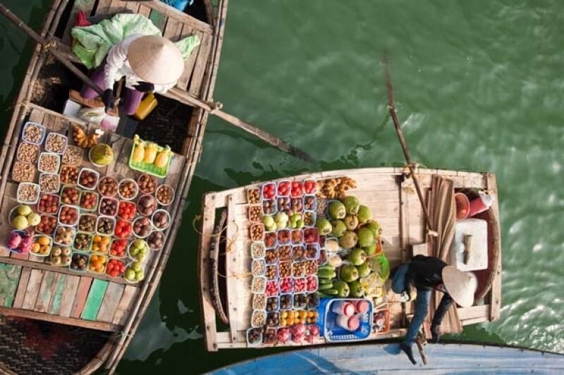 Mercados flotantes de Vietnam.
