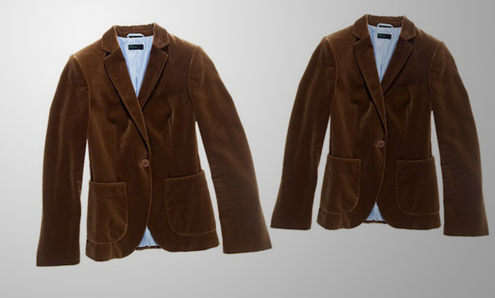 La firma italiana conoce el verano de México. Por eso lanzó esta colección de abrigos para proteger contra la lluvia, viento  y frío. En la imagen un saco en color café y con el interior en tono azul.