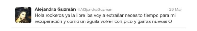 Alejandra Guzmán está en tratamiento.