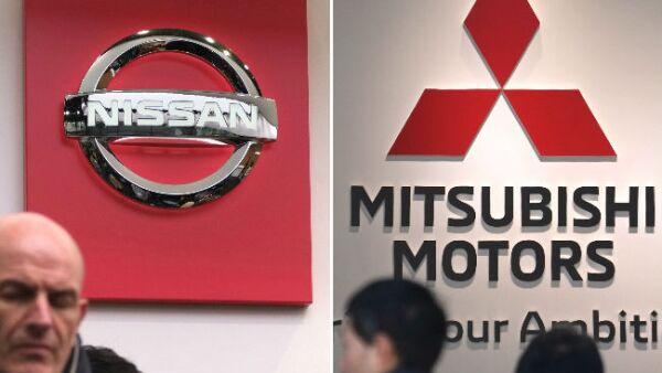 logos de Nissan y Mitsubishi