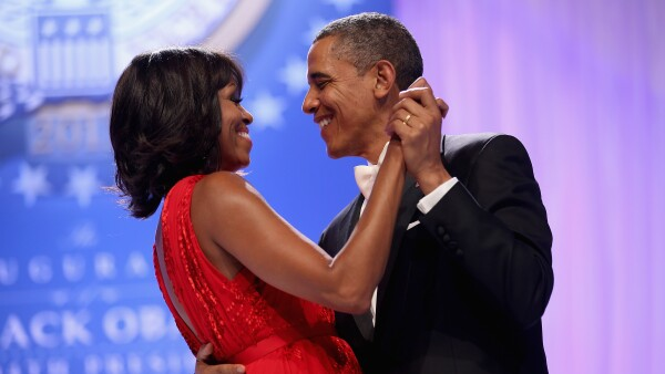 Michelle y Barack Obama in love