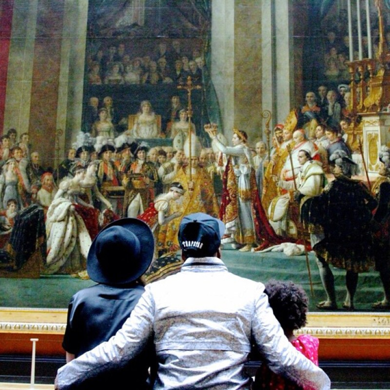 Beyoncé, Jay Z y Blue Ivy disfrutaron de una tarde cultural en el Louvre.