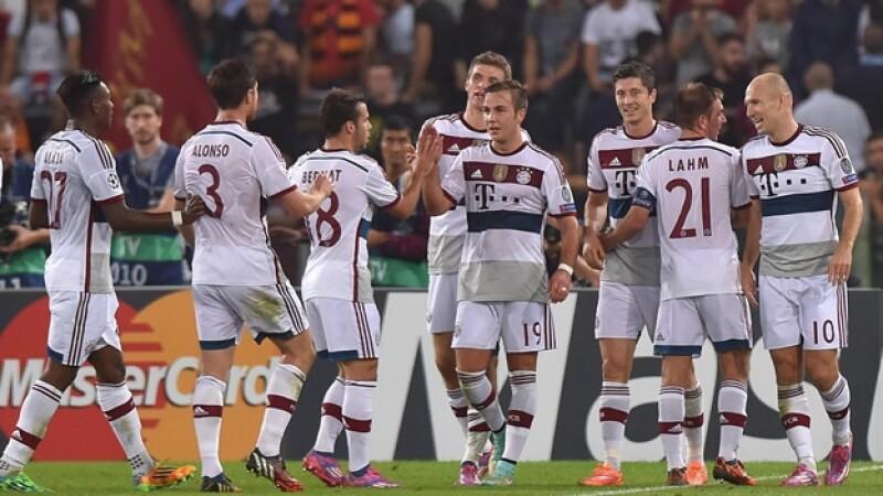 El Bayern Munich mostró su poderío ofensivo en Italia al vencer a una Roma sin capacidad de respuesta por 7-1