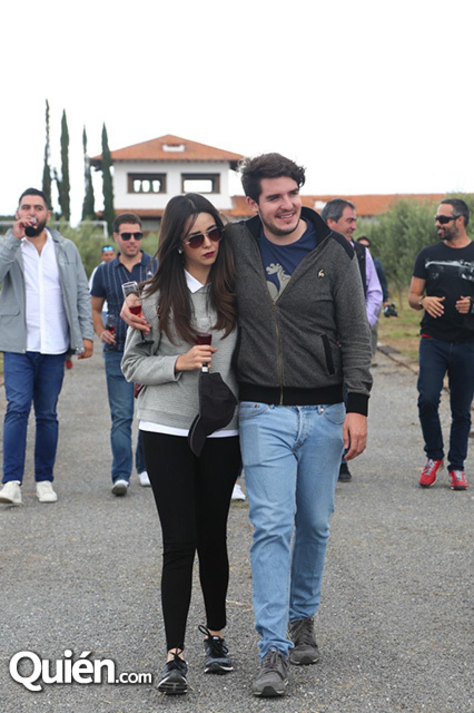Monique Dupont y Rodrigo Noriega