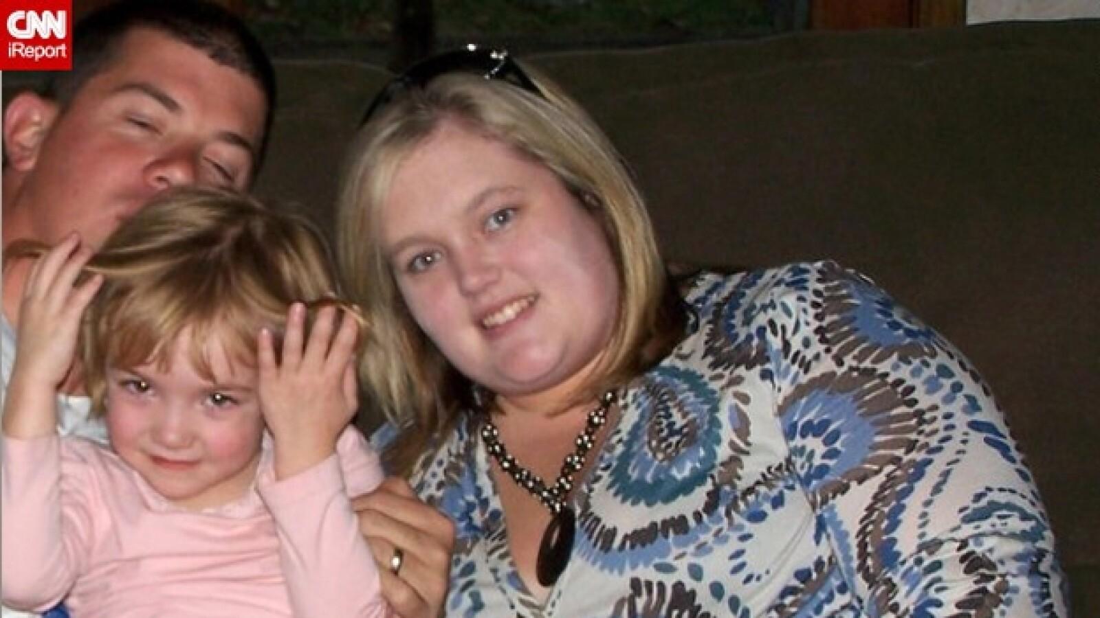 mujer que bajo 77 kilos de peso