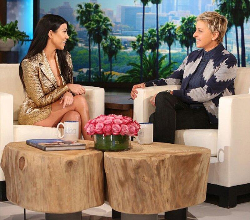 La estrella de reality habló en entrevista con Ellen DeGeneres sobre el estatus de su relación con el cantante canadiense.