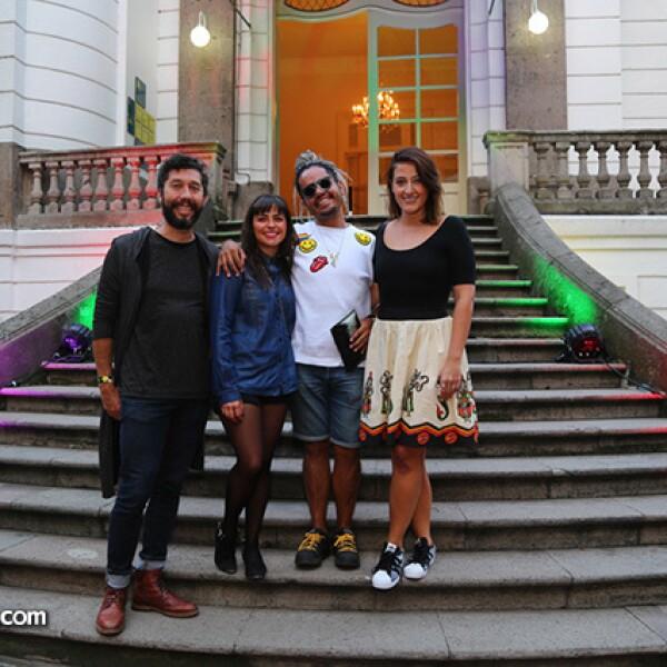 Otto F de Castro,Ana Karen Cervantes,Adrián González y Yannina Thomassiny
