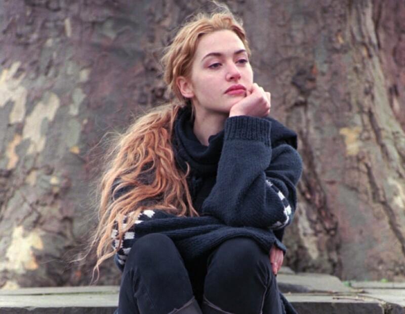 """La imagen de Kate Winslet, en 1997, cuando protagonizó el filme de Jame Cameron era más """"salvaje"""", con su melena roja y esponjada."""