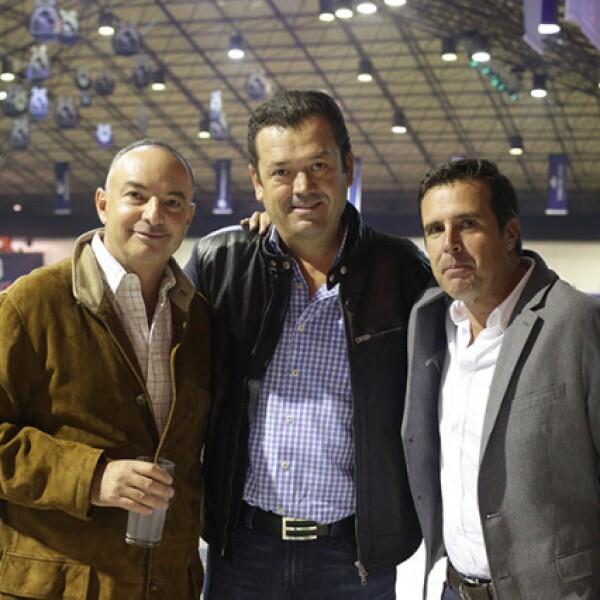 Enrique González,Mario Oñate y Felipe Gaspar
