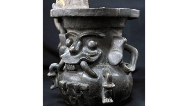 Una jarra que representa a Tláloc.