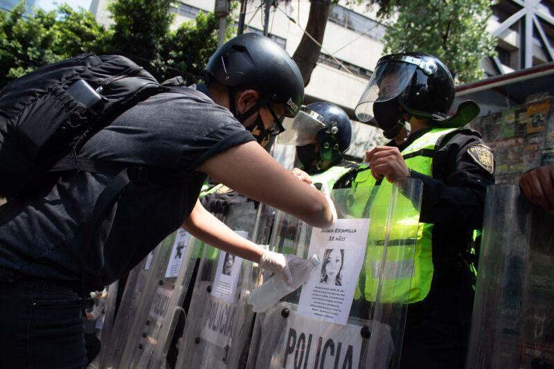 Protesta contra la policía