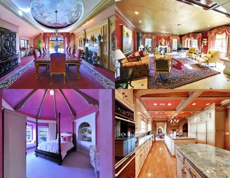 La casa tiene 10 habitaciones y 13 baños.