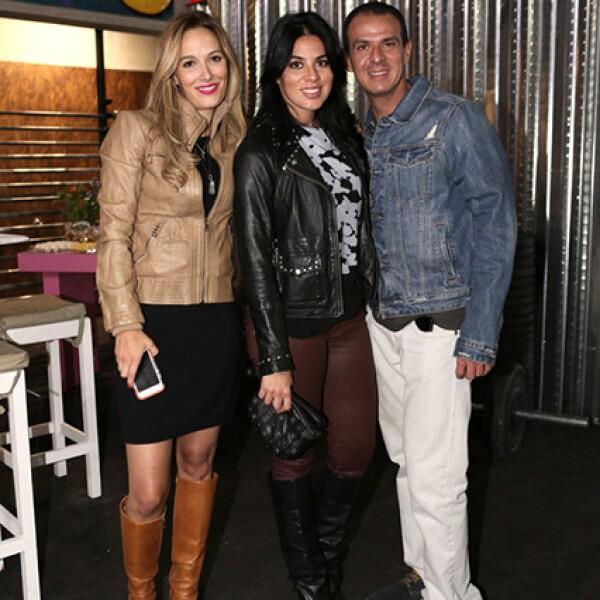 Pamela Furlong, Giselle Leal y Rodrigo Medina