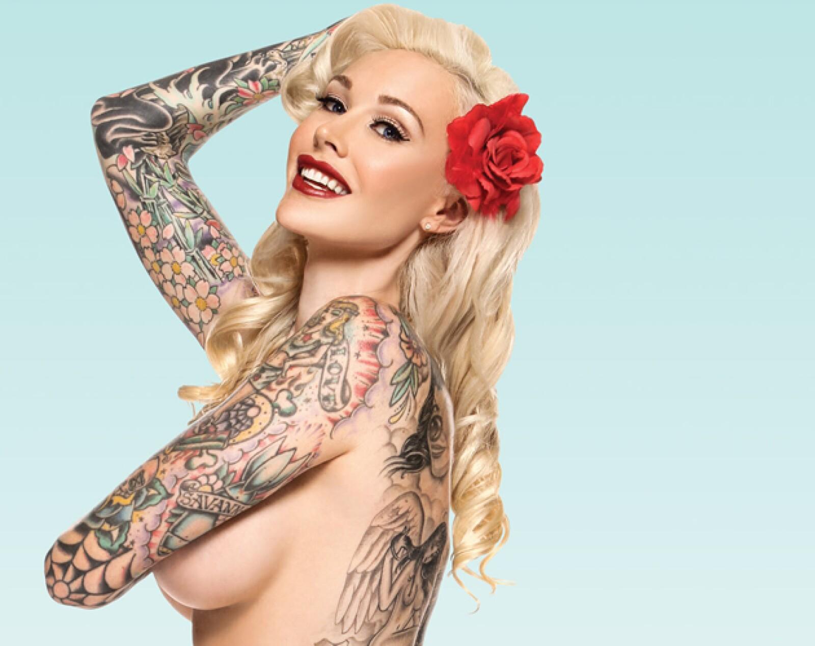 4. Sabina Kelley. Amante de los tatuajes, Kelley ayudó a redefinir la esencia del pin up en la actualidad.