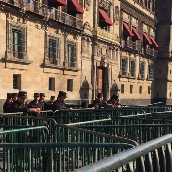 El Estado Mayor Presidencial resguardó las instalaciones de Palacio Nacional