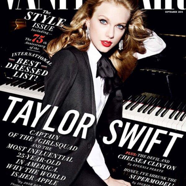 Taylor Swift tras la lente de Mario Testino para Vanity Fair US.