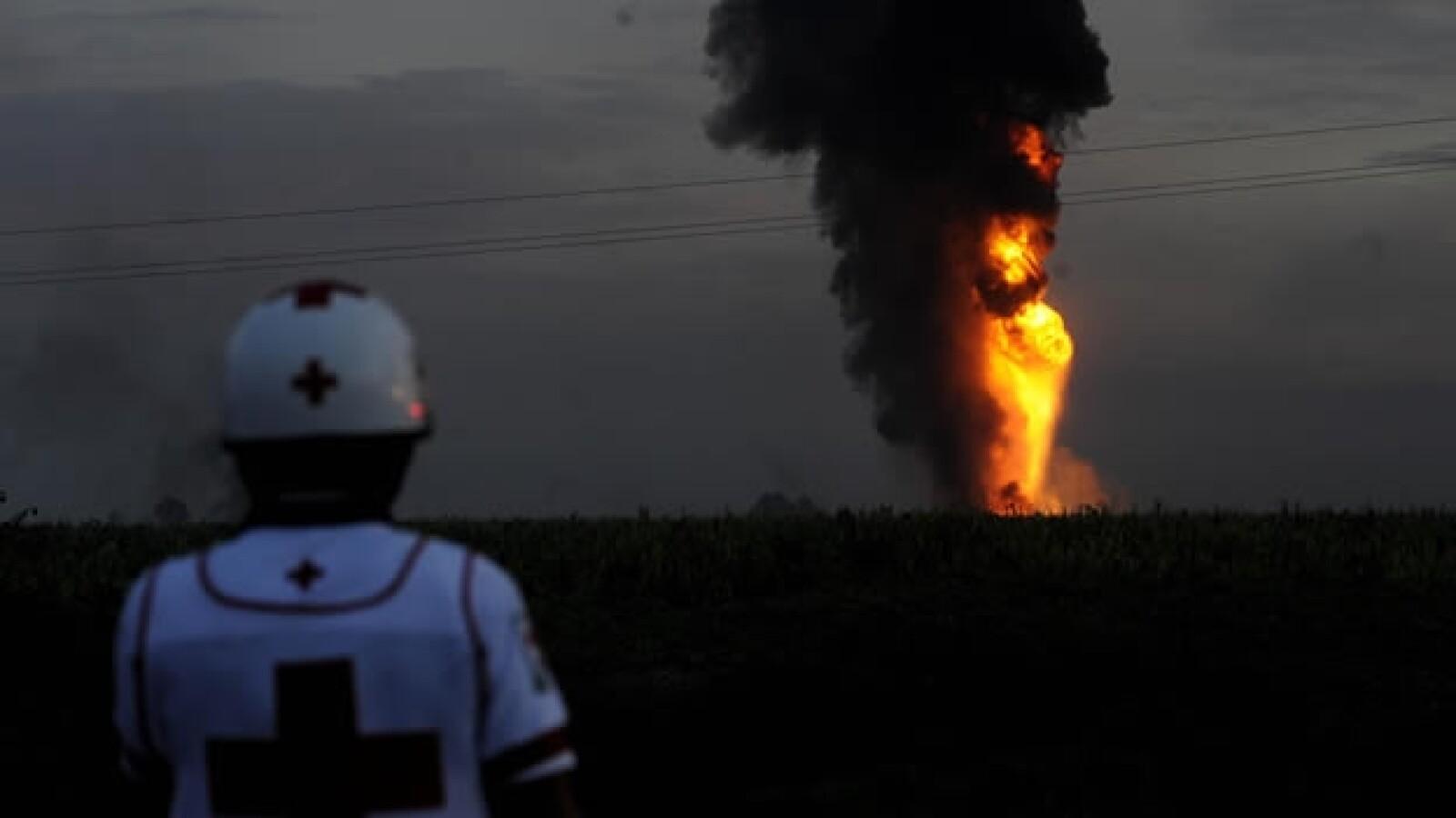 Incendio en ducto de Pemex
