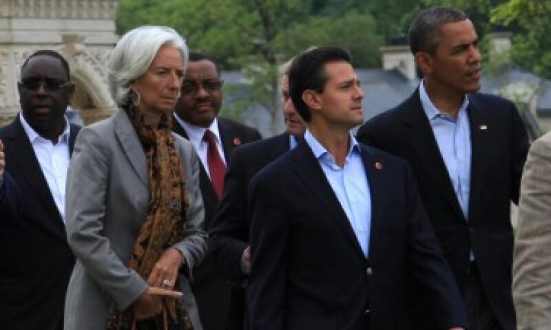 El presidente Enrique Peña Nieto (centro) se unió a la declaración del G8 que combatirá la creación de empresas fantasmas para evadir impuestos.  (Foto: tomada de presidencia.gob.mx)