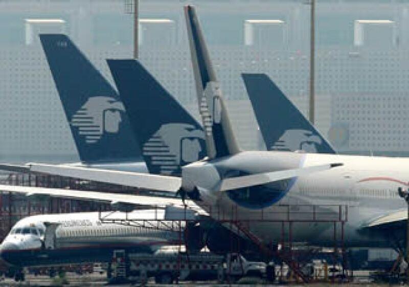 Aeroméxico canceló su vuelo proveniente de Dallas por el mal clima. (Foto: AP)