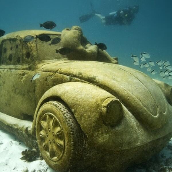 ?El Vocho tiene la forma perfecta para estar bajo el agua, es redondo para que crustáceos como las langostas y los cangrejos puedan vivir dentro de este sin el peligro de ser atrapados por los pescadores
