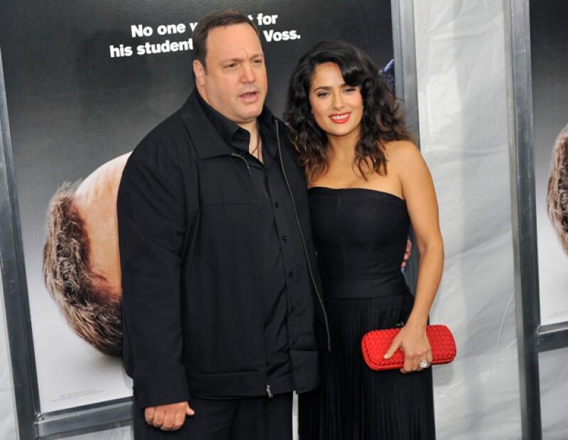 La actriz confesó que sin querer le pegó a Kevin James mientras rodaban una escena donde tenían que discutir.