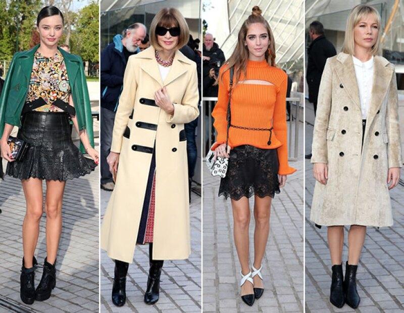 Miranda Kerr, Anna Wintour, Chiara Ferragni y Michelle Williams fueron algunas de las caras que vimos en Louis Vuitton.