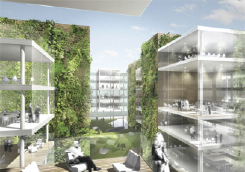 El edificio de oficinas a cargo de Hosoya Schaefer Architects fue uno de los ganadores de los Premios Holcim 2008. (Foto: Cortesía Holcim Apasco)