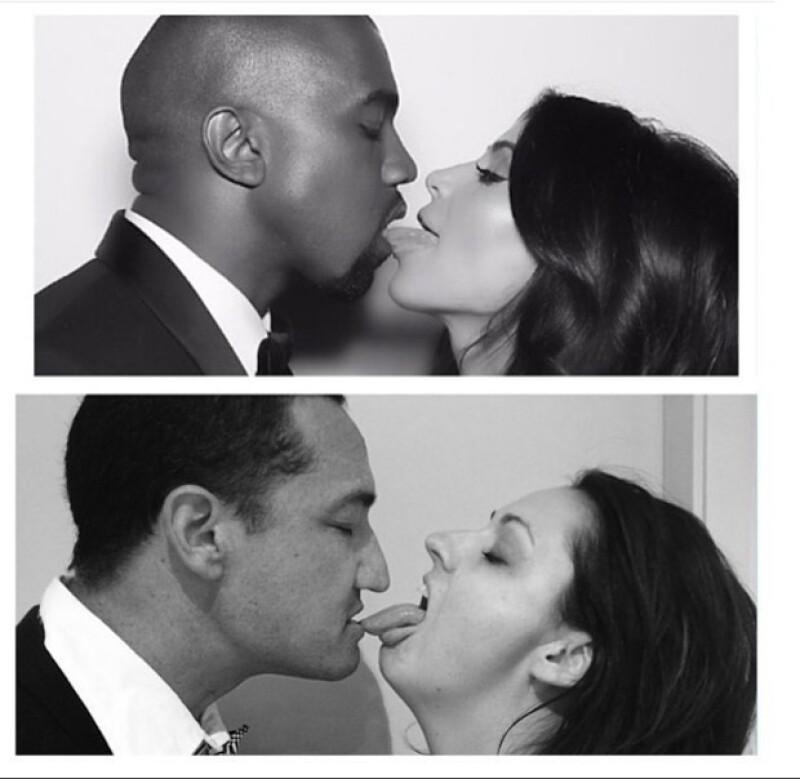 Kim Kardashian y Kanye West no podían faltar.