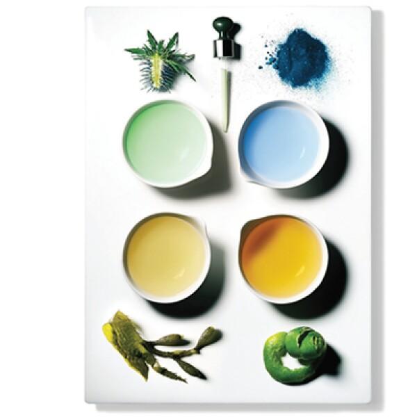 Alquimia. Té verde, algas, semillas, como los elementos del suero para la piel de La Mer.