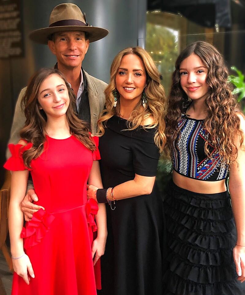 La familia Rubín Legarreta sobre la red carpet