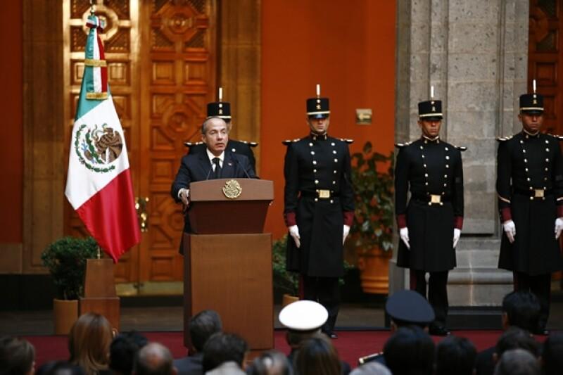 Felipe Calderón dirigió unas palabras para el ex presidente de México.