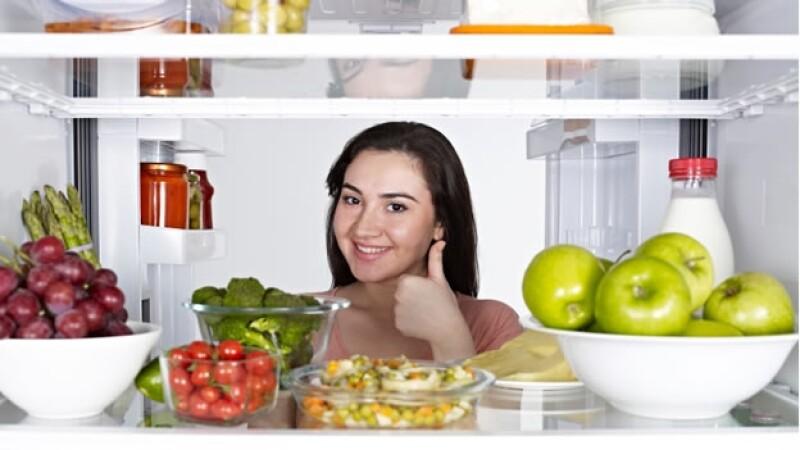 refrigerador comida saludable