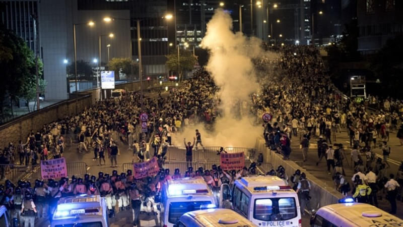 protestas policía Hong Kong