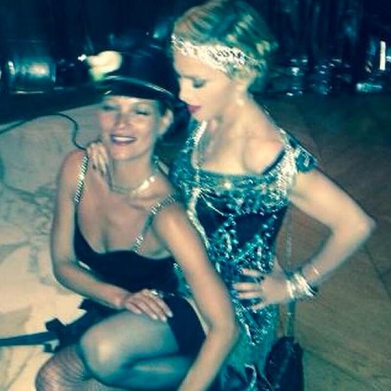 Kate Moss fue una de la exclusivas invitadas a la celebración de Madonna.