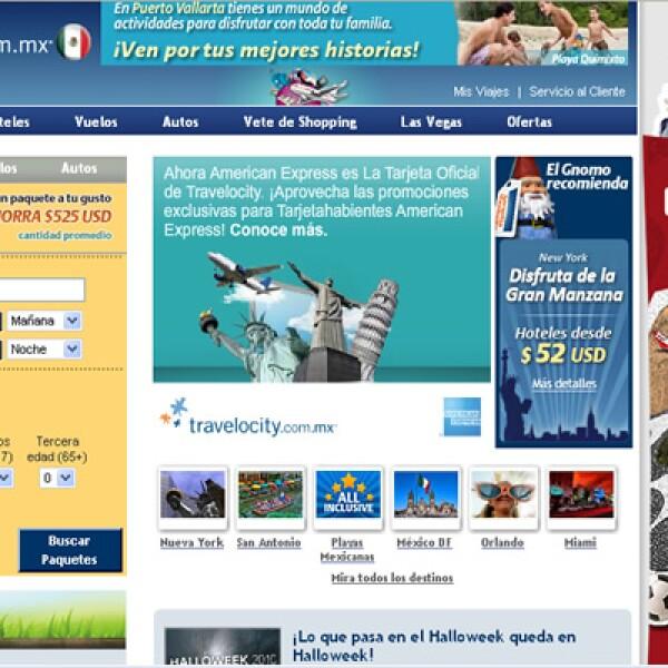 Travelocity México es la agencia de viajes en línea que vende servicios turísticos en todo el mundo y un finalista en la categoría de 'Turismo'.