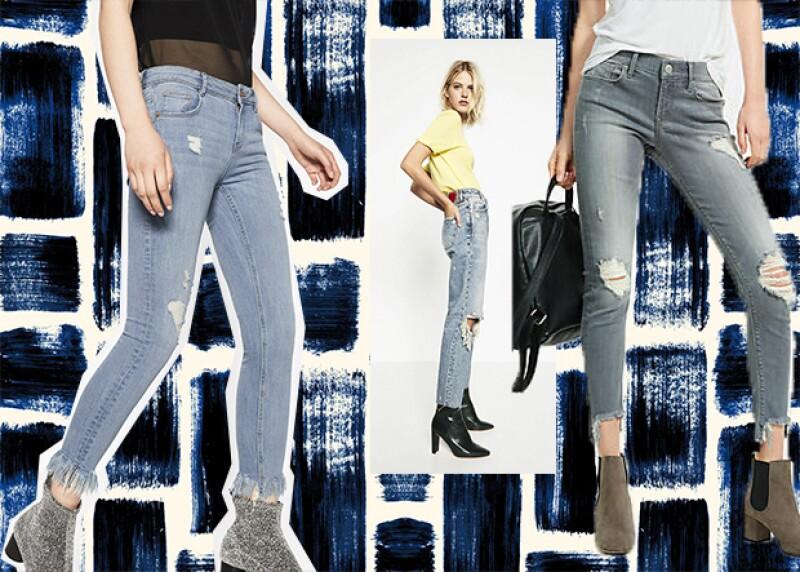 Esta tendencia se inclina por lo inconcluso. Los jeans que cuentan con esta característica por lo general presentan costuras, flecos,y roturas.
