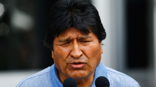 Evo Morales llega a México