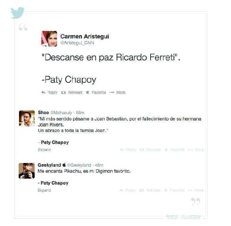Muchos usuarios en Twitter bromearon sobre el error de Pati Chapoy.