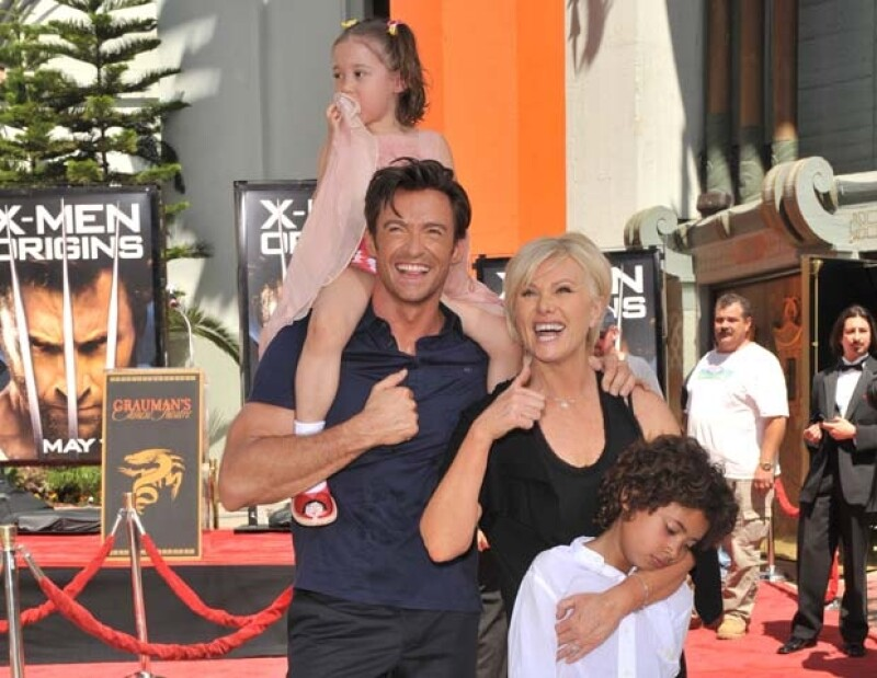 Deborra-Lee y Hugh han formado una gran familia al lado de Ava y Oscar.