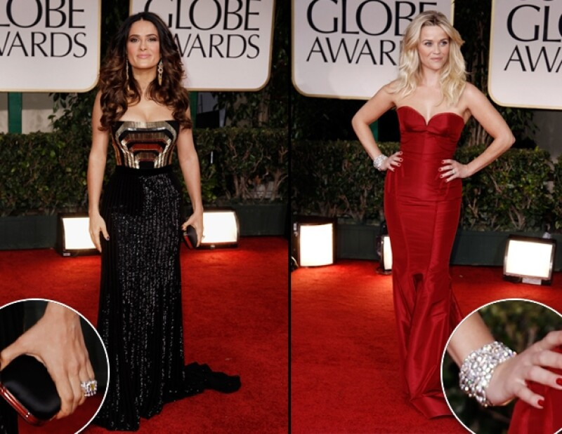 Salma Hayek, Angelina Jolie, Charlize Theron y Reese Witherspoon fueron reconocidas por el público como unas de las actrices más acertadas en cuanto a un estilo pulido se refiere.