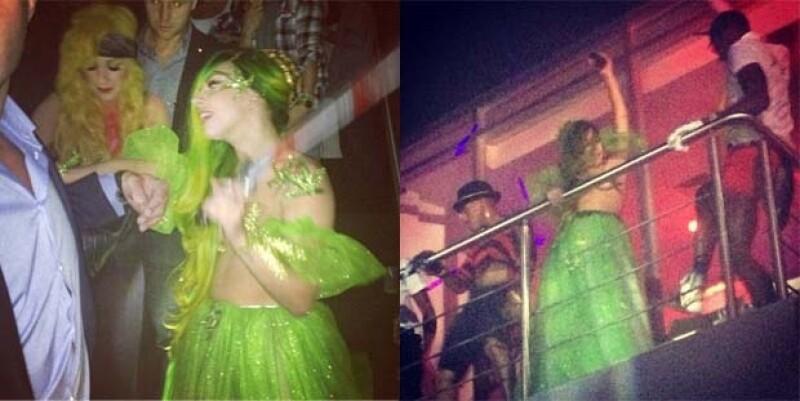 Así se le vio durante la fiesta de Halloween en la que utilizó su peculiar disfraz.