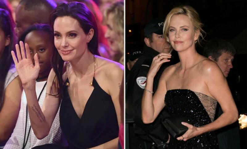 En la primera filtración de información Angelina Jolie y Charlize se vieron envueltas en escándalo.