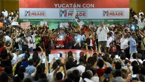 Meade acto de campaña en Yucatán